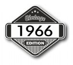 VIntage Edition 1966 Classic Retro Cafe Racer Design External Vinyl Car Motorcyle Sticker 85x70mm